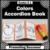 Kindergarten Color Word Practice, Learning Colors Foldable Accordion Book SPS