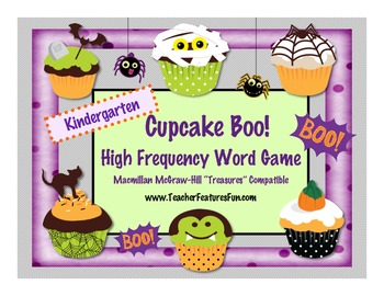 "Kindergarten Cupcake Boo! HFW Game Macmillan McGraw-Hill ""Treasures"" Compatible"