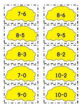 Kindergarten Cupcake Subtraction