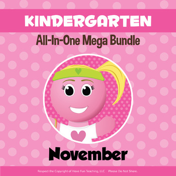 Kindergarten Curriculum Bundle (NOVEMBER)