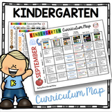 Kindergarten Curriculum Map - Math and Language Arts Curricula - Common Core