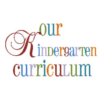 Kindergarten Curriculum Sheet