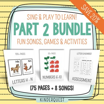 Kindergarten Curriculum: Sing and Play to Learn Complete Bundle