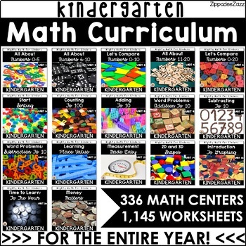 Kindergarten Curriculum for Math Bundle Mighty Math for Kinders