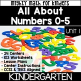 Kindergarten Curriculum for Math UNIT 1 NUMBERS 0-5  Mighty Math for Kinders