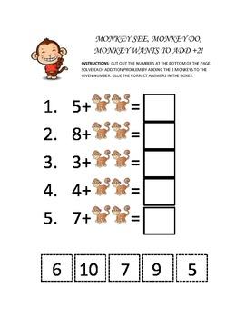 Kindergarten Cut and Paste Math Activities