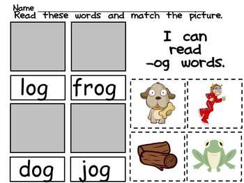 Kindergarten Cut and Paste Word Work- Mega Pack Bundle- letters, sounds, more