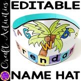 Scissor Skills | Cutting Practice | Coconut Tree Hat Name