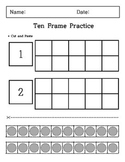 Kindergarten - Cutting and Paste - Ten Frame
