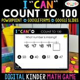 Kindergarten DIGITAL Math Game | Counting to 100 | Distanc