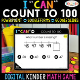 Kindergarten DIGITAL Math Game | Counting to 100 | Distanc