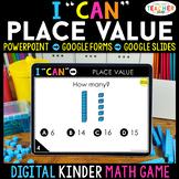 Kindergarten DIGITAL Math Game | Place Value | Distance Learning