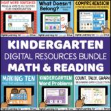 Kindergarten DIGITAL Reading & Math Bundle for Google Classroom