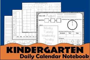 Kindergarten Daily Calendar