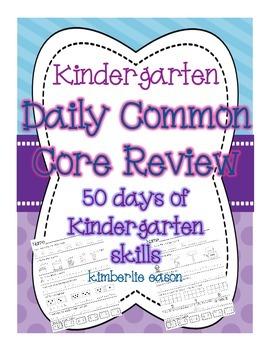 Kindergarten Daily Common Core Review Part 2