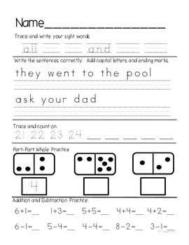 Kindergarten Daily Common Core Review Part 3