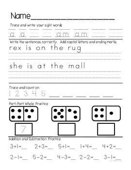 Kindergarten Daily Common Core Review Part 3
