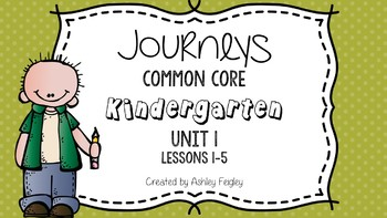 Kindergarten Daily ELA Skill Review (Unit 1) ~Compatible with Journeys~