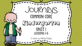 Kindergarten Daily ELA Skills (Unit 1) ~Compatible with Journeys~