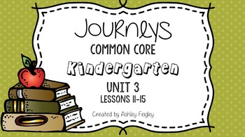 Kindergarten Daily ELA Skills (Unit 3) ~Compatible with Journeys~