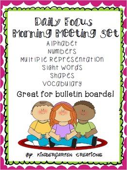 Kindergarten Daily Focus Board