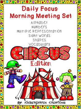Kindergarten Daily Focus Board Circus Edition