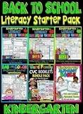 Back to School Literacy Starter Bundle- Kindergarten Literacy Worksheets