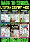 Kindergarten Daily Literacy- Back To School LITERACY Start