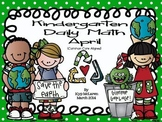 Kindergarten Daily Math April - NO PREP-Distance Learning