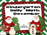Kindergarten Daily Math December NO PREP-Distance Learning