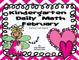 Kindergarten Daily Math February NO PREP-Distance Learning