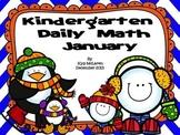 Kindergarten Daily Math January  NO PREP-Distance Learning