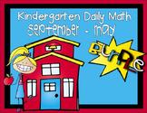 Kindergarten Daily Math Sept. thru May - NO PREP (Common C