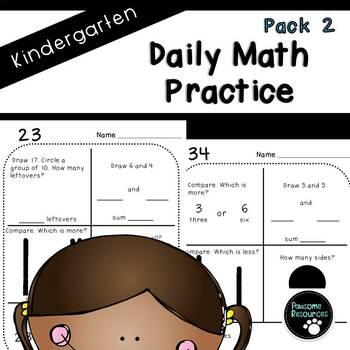 Kindergarten Daily Math (Pack 2)