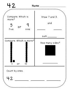 Kindergarten Daily Math (Pack 3)