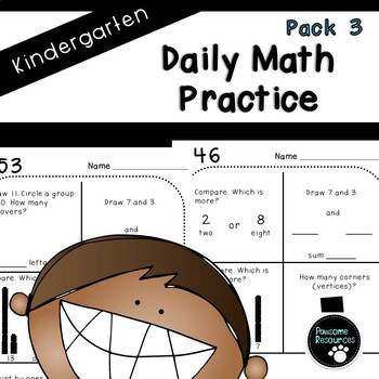 Kindergarten Daily Math (Pack 3)