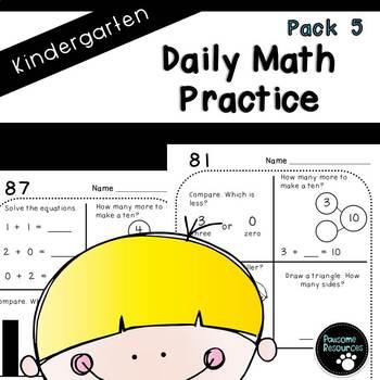Kindergarten Daily Math (Pack 5)