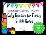 Kindergarten Daily Math Review