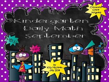 Kindergarten Daily Math September - NO PREP! (Common Core Aligned)