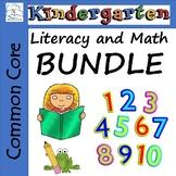 Kindergarten Morning Work Bundle - Literacy and Math