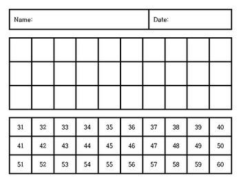 Kindergarten Daily Number Writing Practice 1-100