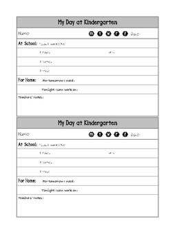Kindergarten Daily Report
