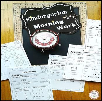 Morning Work ~ Kindergarten!