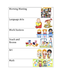 Kindergarten Daily Schedule Cards
