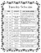 Kindergarten Daily Schedules