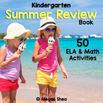 Kindergarten Daily Summer Review Book, ELA & Math Activities