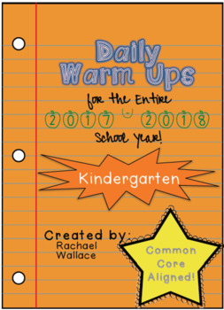 Kindergarten Daily Warm Ups for the Entire Year BUNDLE!