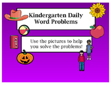 Kindergarten Daily Word Problems Flip Chart for ActivInspire