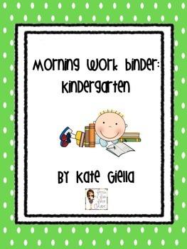 Kindergarten Daily Work Packet