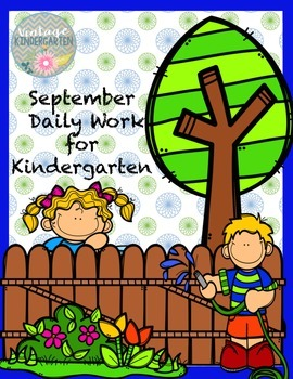 Kindergarten Daily Work for September